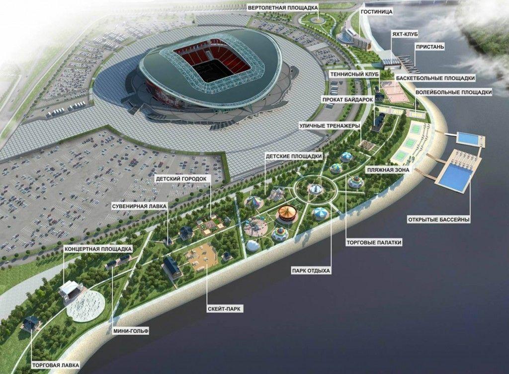 Проект пляжного комплекса за 200 млн рублей проходит рассмотрение в исполкоме Казани