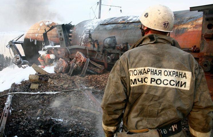 В Кемеровской области столкнулись два грузовых поезда, один человек погиб