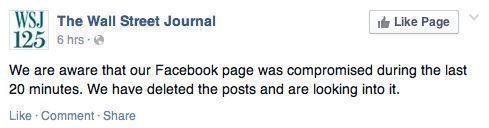 Взломанный аккаунт The Wall Street Journal сообщил о пропаже самолёта Обамы в небе над Россией