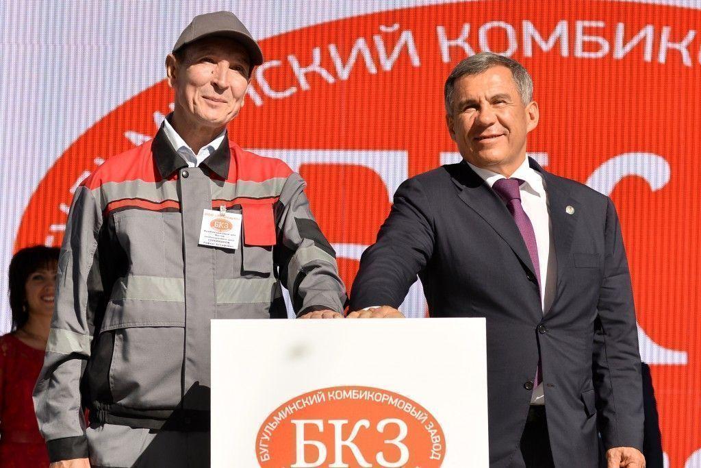 Завод стоимостью 2,2 млрд рублей по производству комбикормов запущен в Бугульме