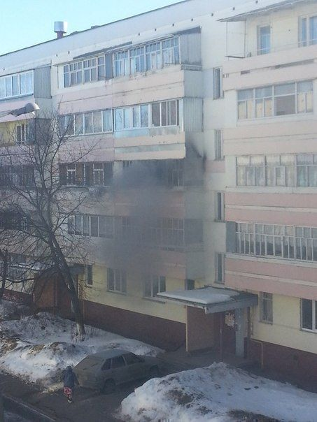 В жилом доме в Нижнекамске сгорел балкон