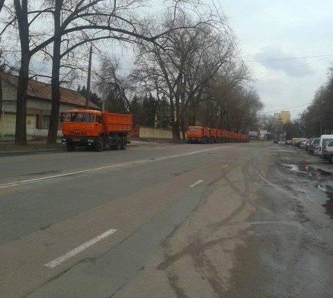 Похищенные «Камазы» перегнали к следственному изолятору Чернигова