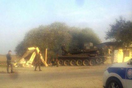 В Азербайджане произошло ДТП с участием танка