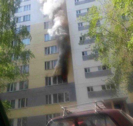 Выгорела квартира в Набережных Челнах