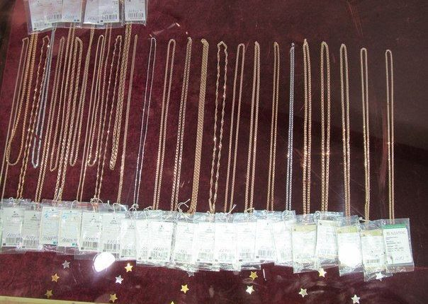 Золотые украшения стоимостью 340 тысяч рублей украл из ювелирного магазина житель Нижнекамска