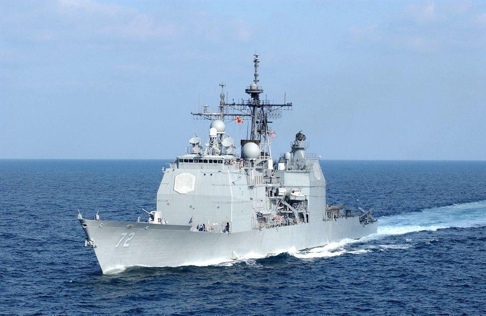 Американский ракетный крейсер Vella Gulf вошел в Черное море