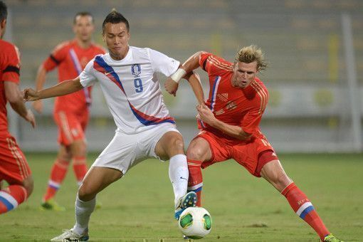Сборная России по футболу победила в матче с командой Южной Кореи