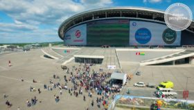 Рекордный Let's Play в FIFA на экране Kazan Arena