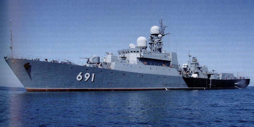 Русские ракетные корабли начинают учения наКаспии