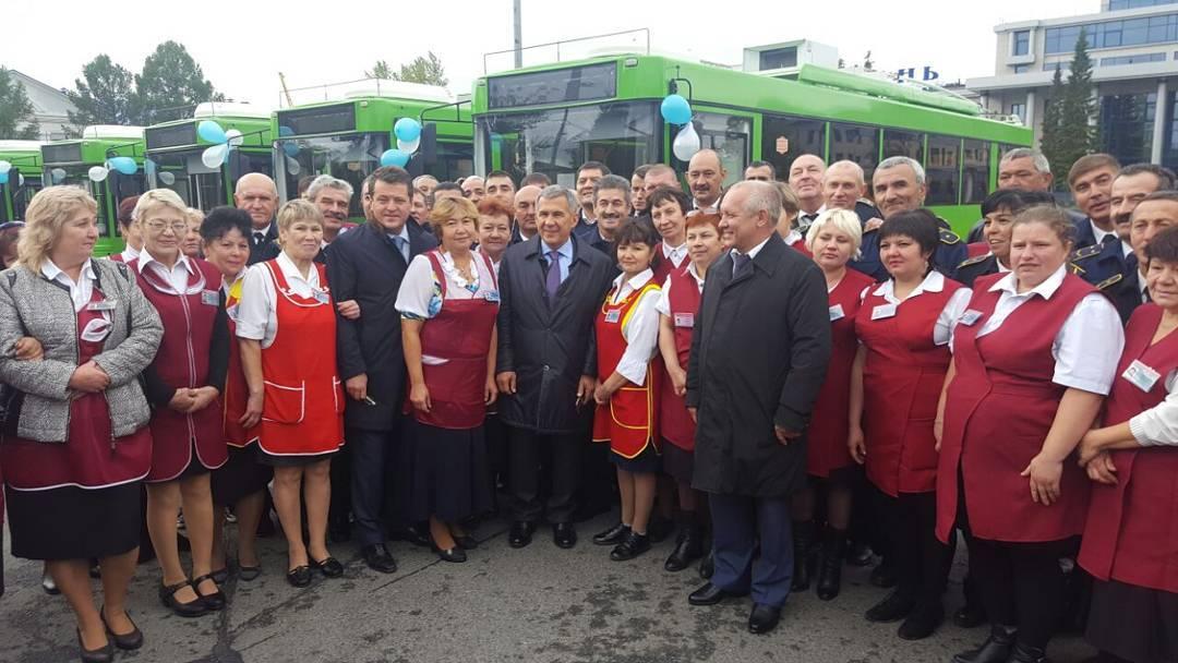 Транспортный парк Казани был дополнен 22 трамваями и70 троллейбусами