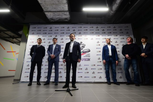 Данис Зарипов открыл на«Казань Арене» центр хоккейного мастерства