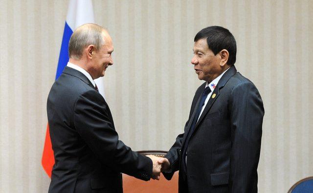 Президент Филиппин сказал, что очень ждал возможности познакомиться сПутиным