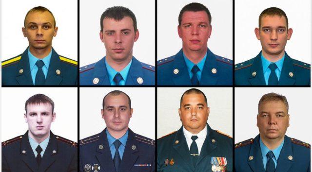 Погибших при тушении пожара в российской столице спасателей наградили орденами