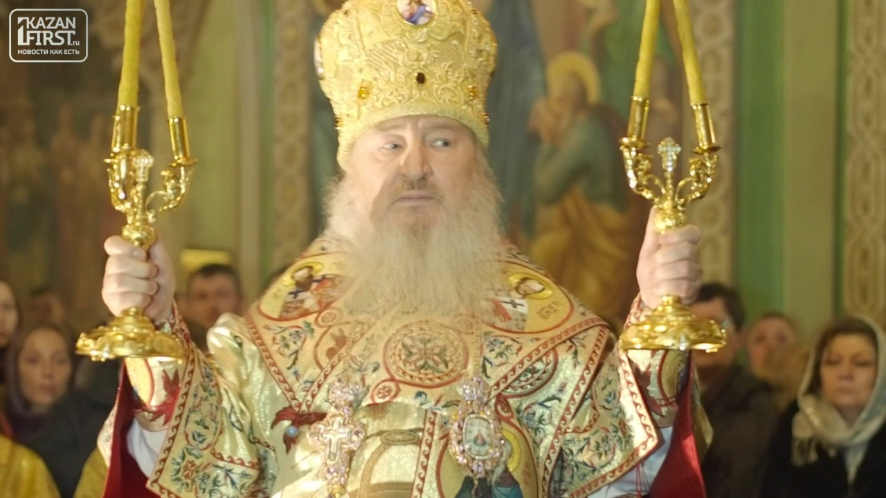 Рождественская божественная литургия в Благовещенском соборе Казанского кремля