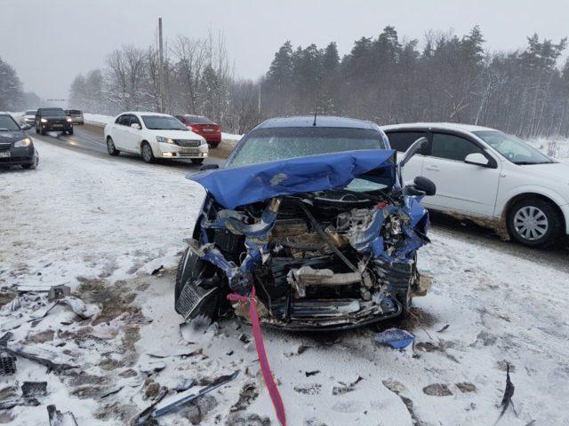 ВТатарстане вДТП столкнулись три автомобиля— есть пострадавшие
