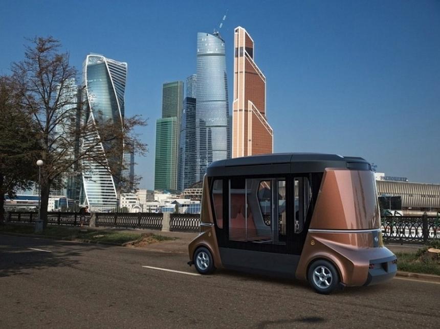 Впервом зимнем месяце в РФ выпустят беспилотный автобус «Матрешка»