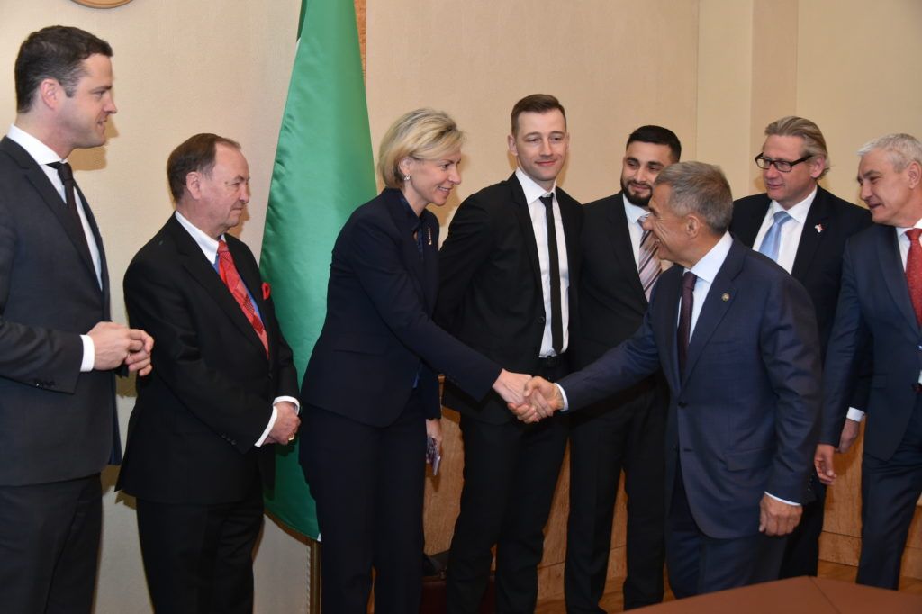 ВКазани состоялась встреча Рустама Минниханова сделегацией Австрийско-Российского общества дружбы