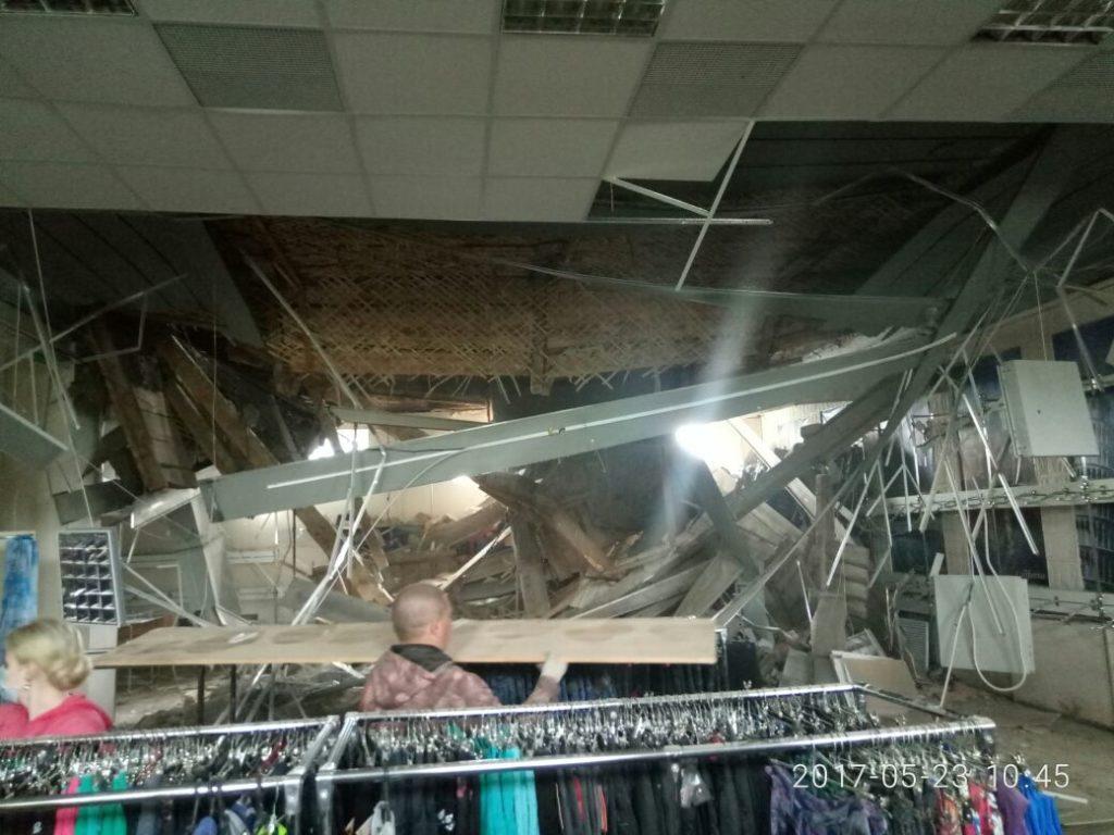 Появилось фото сместа обрушения потолка в коммерческом центре Чистополя