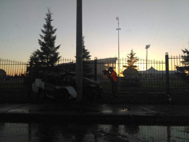 ВКазани врезультате дорожного происшествия практически навсе 100% сгорел автомобиль