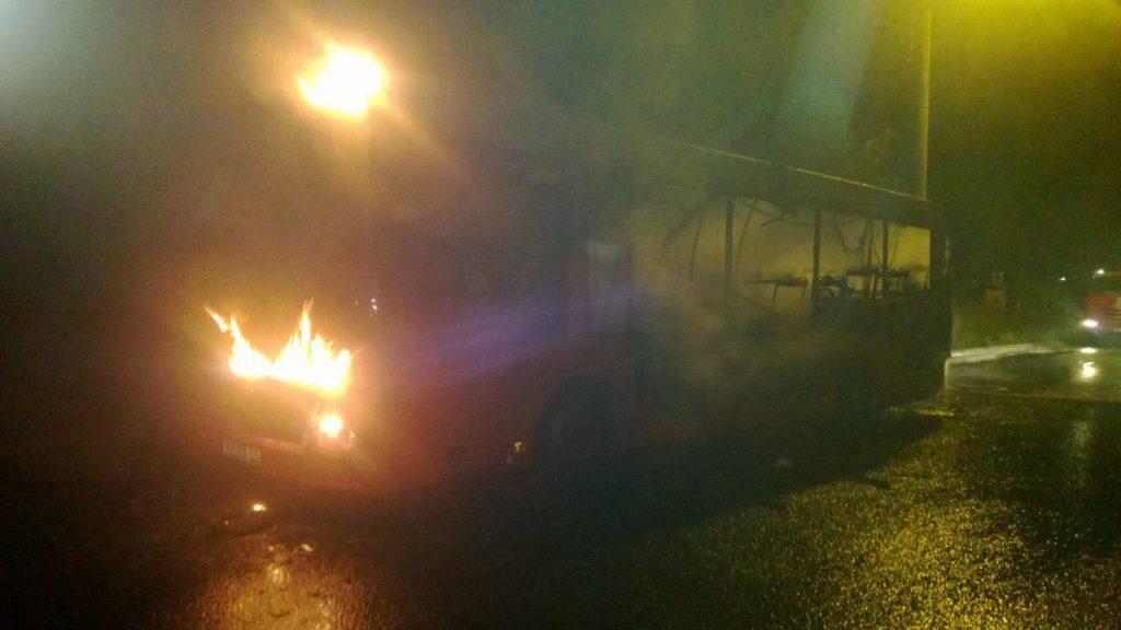 ВКазани впериод движения зажегся автобус 62-го маршрута