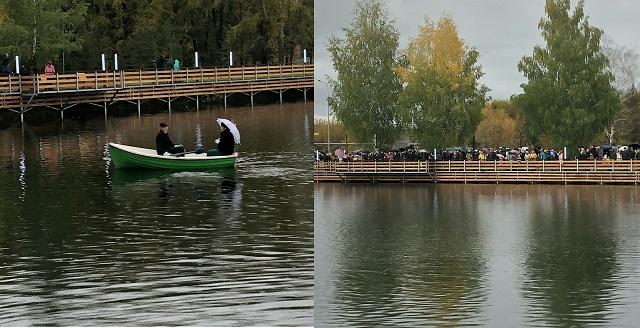 Рустам Минниханов принял участие воткрытии парка «Ушковские острова»