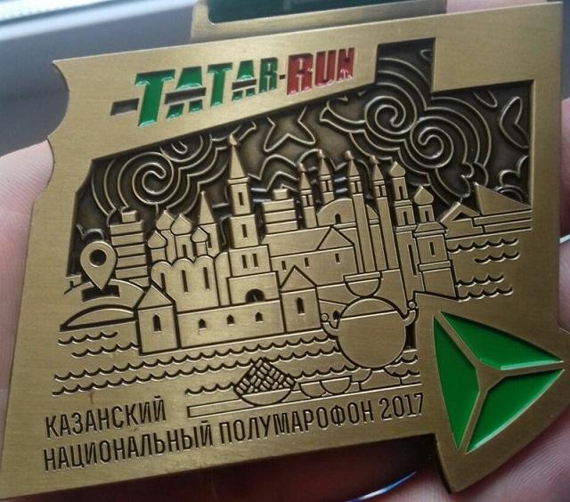Участникам забега вКазани выдали медали сошибкой